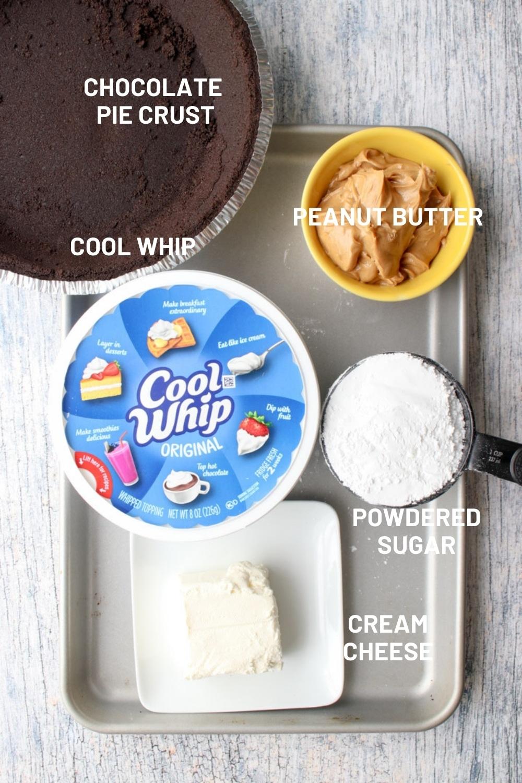 ingredient to make peanut butter pie