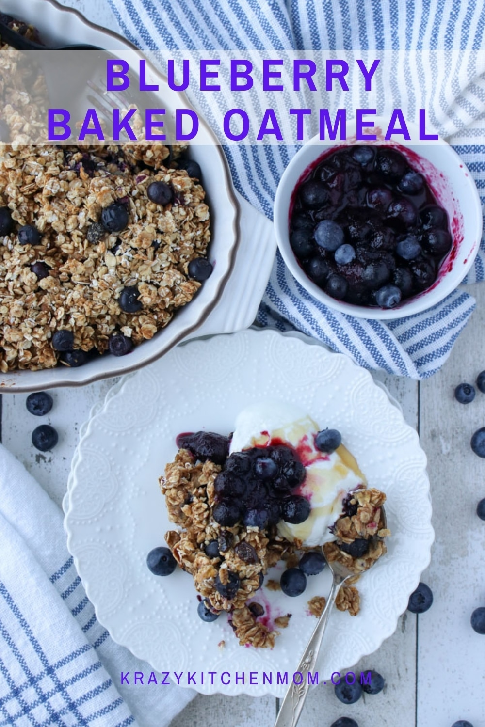 All of the warm flavors and comfort of a hot bowl of oatmeal baked to perfection. Easy preparation and easy cleanup.  via @krazykitchenmom