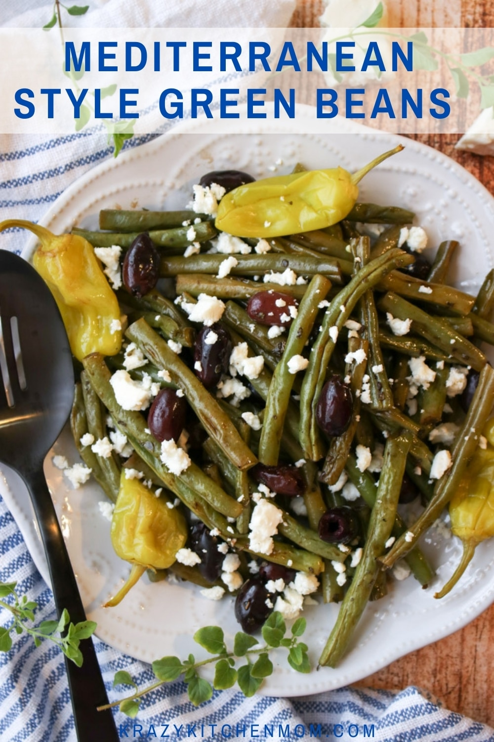 Transform the humble green bean into a gourmet dish by roasting them with oil olive, olives, oregano, and pepperoncini peppers. via @krazykitchenmom